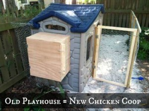 Turn a Kids Playhouse into a Chicken Coop