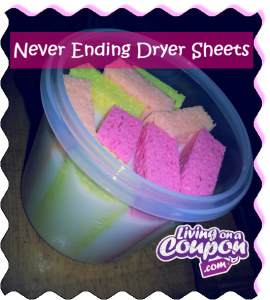 Never ending dryer sheets 270x300 HOW TO MAKE NEVER ENDING DRYER SHEETS