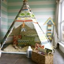 A No Sew Teepee Tutorial. You know little kids would absolutely love this.