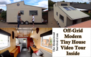 Off Grid Modern Tiny House Video Tour Inside