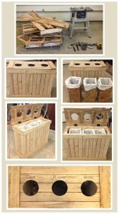 Indoor Recycling Separator Made From Wood Pallets