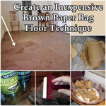 Create an Inexpensive Brown Paper Bag Floor Technique