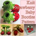 Knit Strawberry Baby Booties Pattern
