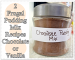 2 Frugal Pudding Mix Recipes Chocolate or Vanilla
