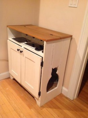 Build A Combination Cat Litter Cabinet And Charging Station The Homestead Survival