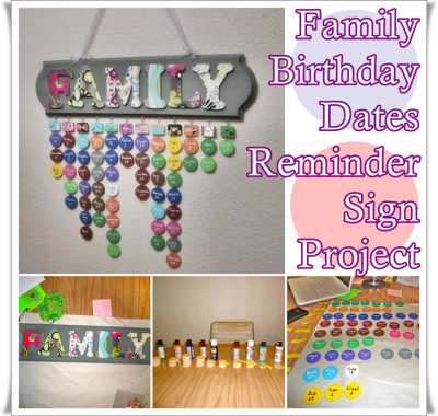 Family Birthday Dates Reminder Sign