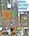 Outdoor Off The Grid Homestead Shower