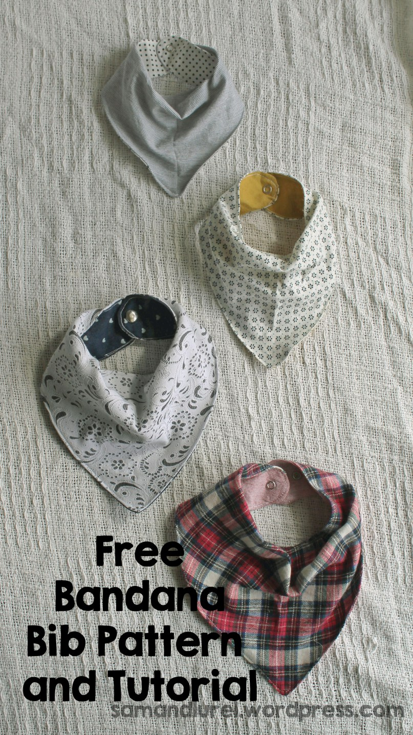 Make Bandana Bibs For Your Baby Free Pattern