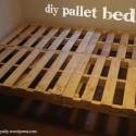 Build a Bed Frame from Salvaged Free Wood Pallets