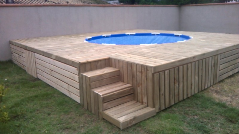 Build A Pallet Deck For Your Above Ground Pool