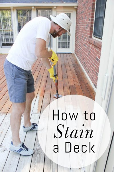 How to Properly Stain a Wood Deck DIY Project