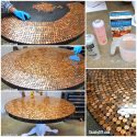 Create a Penny Table Top with Epoxy Glaze DIY Project