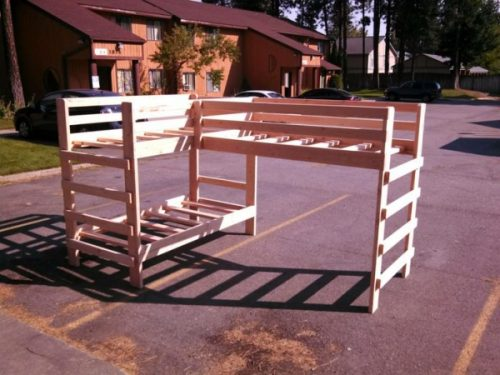 Build A Set Of Strong Triple Bunk Beds Diy Project The Homestead