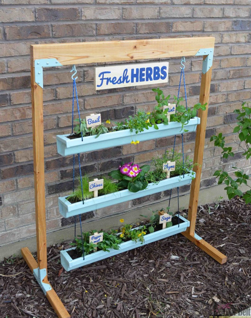 Build Hanging Gutter Planter Stand DIY Project