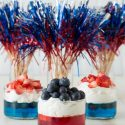 Fruit Jello Cups 4th of July Celebration Recipe