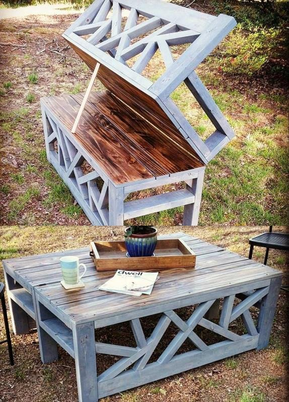 how to build convertible outdoor coffee table bench diy project is an