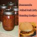 Homemade Pulled Pork BBQ Canning Recipe