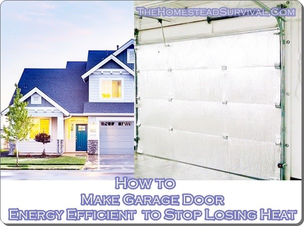 Make garage door energy efficient to stop losing heat Energy efficient garage doors
