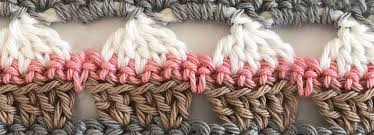 Crochet CUPCAKE Stitch Blanket Border Project