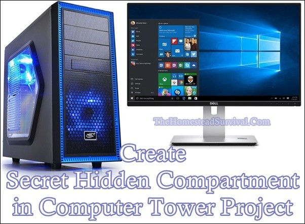 Secret Hidden Compartment in Computer Tower Project